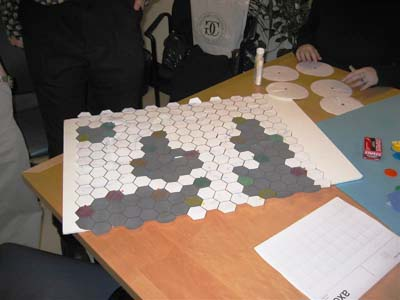Photo of a game played in a classroom.