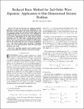 Reduced Basis Method for 2nd Order Wave Equation: Application to One