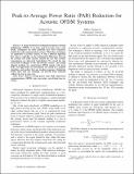 Peak-to-Average Power Ratio (PAR) reduction for acoustic OFDM systems
